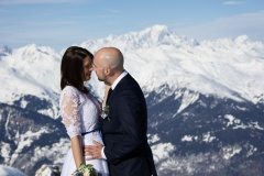 Photo mariage montagne hiver